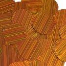Orange Sequin Round 1.5 inch City Lights Reflective Large Couture Paillettes