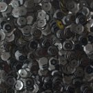 5mm Cup SEQUIN FACET PAILLETTES ~ Opaque BLACK shiny ~ Made in USA