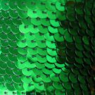 SEQUIN STRING TRIM ~ GREEN METALLIC ~ 6mm FLAT strung by the yard  Made in USA