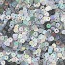 5mm Flat SEQUIN PAILLETTES ~ Silver Lazersheen Iridescent Metallic ~ Made in USA