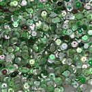 5mm Cup SEQUIN FACET Loose PAILLETTES ~ Green Iris Rainbow Metallic ~Made in USA