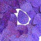 Violet Blue Sequin Teardrop Glitter Hologram 1.5 inch Large Couture Paillettes