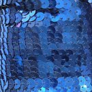 """Metallic Royal Blue Sequin Trim 6mm 1/4"""" wide stitched, strung by the yard 15'"""