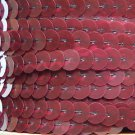 Sequin Trim 10mm Iron On Burgundy Wine Red Transparent. Made in USA