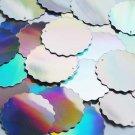 Sequin Silver Lazersheen Metallic Round Wavy Edge 1.5 inch Couture Paillettes