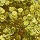 8mm Cup SEQUIN FACET PAILLETTE~ YELLOW Laser Hologram Metallic ~ Made in USA