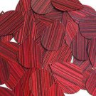 Red Wine Sequins City Lights Teardrop 1.5 inch Reflective Couture Paillettes