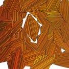 Orange Sequin Diamond 1.75 inch City Lights Reflective Couture Lge Paillettes