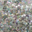 6mm Flat Loose Sequin Paillette Silver Metallic Iris Rainbow Made in USA