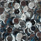 8mm Cup SEQUIN FACET PAILLETTES ~  Light BLUE Metallic ~ Made in USA