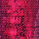 """Metallic Fuchsia Pink Sequin Trim 6mm 1/4"""" wide stitched strung by the yard 15'"""