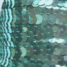 Sequin Trim 10mm Iron On Aqua Blue Metallic. Made in USA