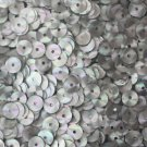 6mm Flat SEQUIN PAILLETTES ~ SILVER PRISM MULTI Reflective METALLIC~ Made in USA