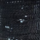 Black Opaque 5mm cup Sequin Trim Flat Stitched Strung by the yard 15'
