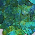 Blue Green Oval Sequin Starry Night  Swirl Texture 1.5 inch Couture Paillettes