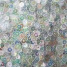 3mm Flat SEQUIN PAILLETTES ~ CRYSTAL IRIS RAINBOW cool hue ~ Made in USA.