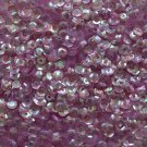 4mm Cup SEQUIN FACET PAILLETTES ~ LAVENDER LILAC CRYSTAL Rainbow Iris Iridescent