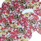 "Round Sequin 1.5"" Giant Floppy Pink Flower Floral Petals Opaque"