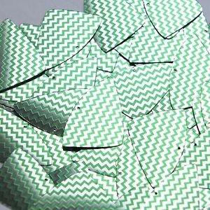 "Fishscale Fin Sequin 1.5"" Green Silver Chevron Zig Zag Pattern Metallic"