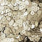 5mm Flat Round Loose SEQUINS ~ Silver Metallic Lizard Snakeskin Effect ~ USA