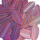 Pink Navette Leaf Sequins 1.5 inch City Lights Reflective Couture Paillettes