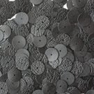 10mm Flat SEQUIN PAILLETTES ~ BLACK LEATHER effect ~ Round Disc ~ Made in USA.