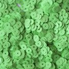 5mm Flat SEQUIN PAILLETTES ~ GREEN Opaque NEON FLUORESCENT ~ Made in USA.