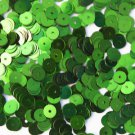 6mm Flat SEQUIN PAILLETTES ~ LIME GREEN Metallic ~ Round Disc ~ Made in USA
