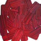 Red Wine Sequins City Lights Rectangle 1.5 inch Reflective Couture Paillettes