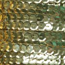 Sequin Trim ~ Gold Metallic ~ 8mm Cup Facet strung by the yard. Made in USA.