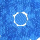 3D Blue Sequin Round 30mm Dimensional Reflector Paillettes. Made in USA.