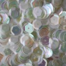 8mm Cup SEQUIN FACET PAILLETTES ~  CRYSTAL RAINBOW IRIS warm hue ~ Made in USA