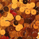 8mm Flat Loose SEQUINS PAILLETTES ~ Metallic ORANGE ~ Round Spangle