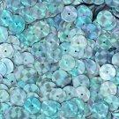 10mm Flat SEQUIN PAILLETTE ~ Light BLUE AQUA PRISM MULTI Reflective METALLIC
