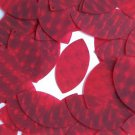 3D Red Navette Sequin Leaf 1.5 inch Dimensional Reflector Paillettes Made in USA