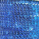 Sequin Trim Royal Blue Metallic 8mm Cup Facet strung by the yard. Made in USA.