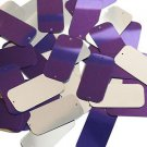 Purple Silver Metallic Sequin 2 hole Rectangle 1.5 inch Couture Loose Paillettes
