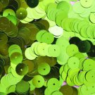 8mm Flat SEQUIN PAILLETTES ~ LIME GREEN Metallic ~ Round Disc ~ Made in USA.
