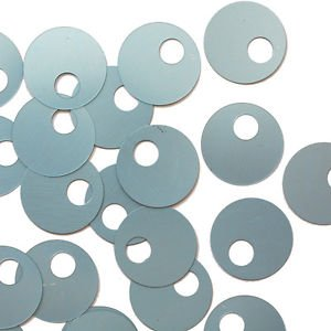 Large Hole SEQUIN PAILLETTES ~ Light BLUE Matte Silk Frost ~ Made in USA