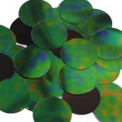 Green Jungle Rainbow Black Sequin Round 1.5 inch Large Couture Paillettes