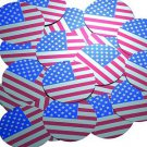 Sequin Round 1.5 inch USA Flag Stars and Stripes Election Silver Red Blue