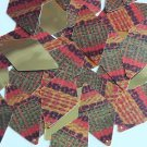 "Long Diamond Sequin 1.75"" Ethnic Woven Fabric Weave Multicolor Metallic"