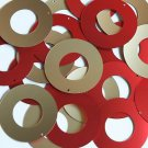 "Donut Ring Sequin 1.5"" Red Gold Matte Silk Frost Matte Silk Frost"