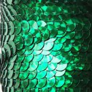 Green Prism Multi Reflective Metallic Sequin Trim 10mm flat strung. Made in USA.