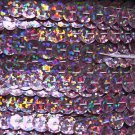 Sequin Trim Pink Hologram 8mm Cup Facet strung by the yard. Made in USA.
