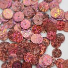 10mm Flat SEQUIN PAILLETTES ~ PINK Laser MULTI  HOLOGRAM ~ Round ~ Made in USA.