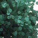 6mm Flat SEQUIN PAILLETTES ~ DEEP Forest GREEN Matte SILK FROST ~ Made in USA