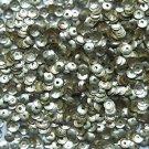 4mm Cup SEQUIN FACET PAILLETTES ~ Light Gold Matte Silk Frost Metallic