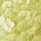 10mm Flat SEQUIN PAILLETTES ~ Opaque Light YELLOW RAINBOW IRIS ~ Made in USA.