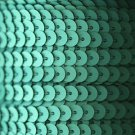 SEQUIN STRING TRIM ~ Lt GREEN Matte Frost~ 6mm FLAT strung by yard Made in USA